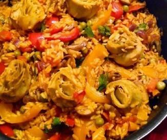 Egyszer� arics�k�s paella - veg�n recept!
