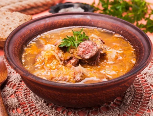 káposzta leves receptek)