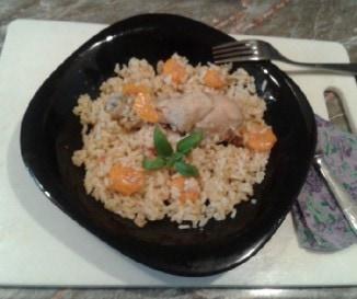 P�rolt rizses csirke s�rgar�p�val