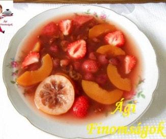 Pudingos gyümölcsleves