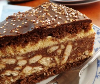Kekszes-gesztenyés torta