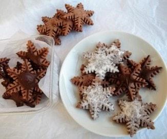Csokoládés hópelyhek pudingporból