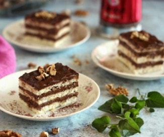 Diós-csokis sütemény