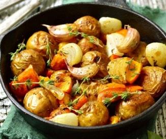 Sütőtökös serpenyős krumpli