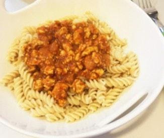 Csirkemell bolognai diétásan