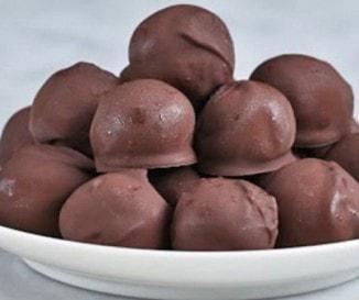 Mogyoróvajas csokigolyó