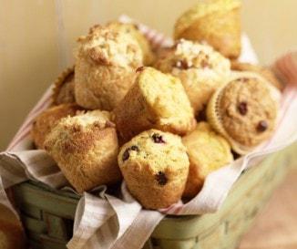 Aszalt vörös áfonyás muffin
