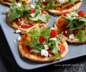 Mini pizzák villámgyorsan