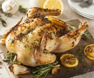 Fűszervajas sült csirke