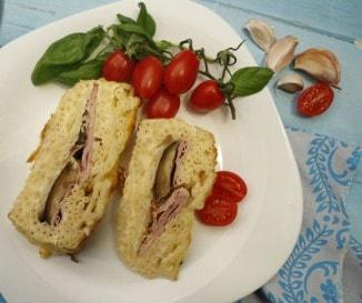 Padlizsános-sonkás rakott tészta
