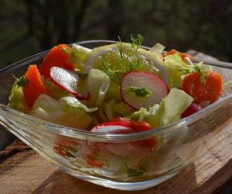Saláta hónapos retekkel