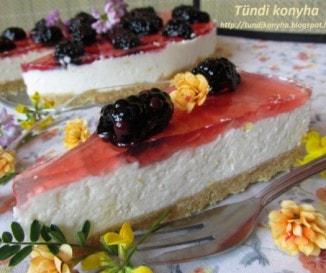 Sütés nélküli citromos-túrós torta