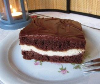 Csokis sütemény túrókrémmel
