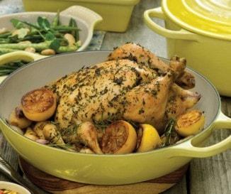 Citromos-zöldfűszeres csirke
