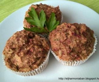 Zöldséges muffin (tojásmentes, tejmentes)