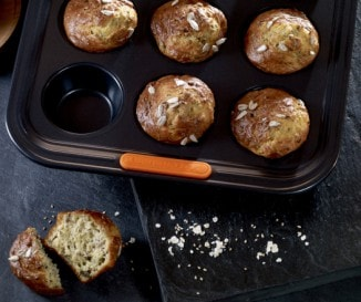 Magvas zabpelyhes muffin