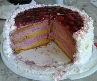 Erdei gyümölcsös-mascarponés torta