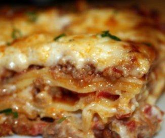 Tejszínes bolognai lasagne