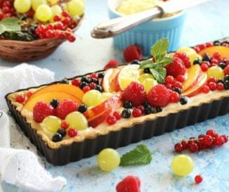 Vaníliakrémes gyümölcsös pite
