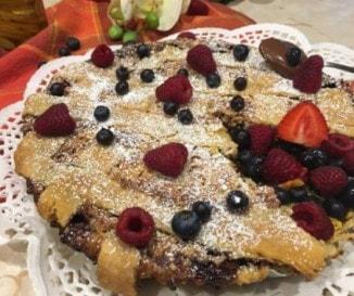 Nutellás-túrós crostata (olasz pite)