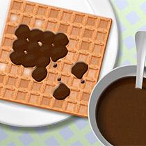 Csokizd �ssze a gofrit!