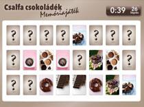 Csalfa csokoládék memóriajáték